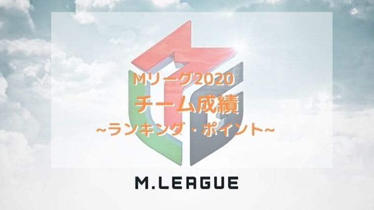 Mリーグ2020チーム成績